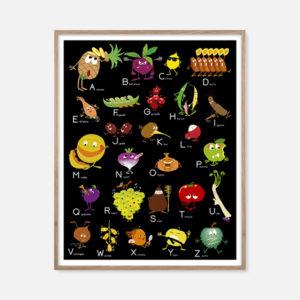 L'abécédaire Fruits et légumes premium