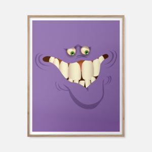 Le monstre violet