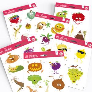 Stickers – Collection Fruits et légumes rigolos